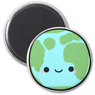 Planet Earth 2 Inch Round Magnet