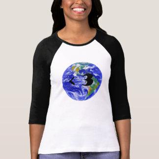 Planet Earth <3 ladies raglan tshirt 3/4 sleeve