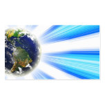 Planet Earth Abstract Vortex Double-Sided Standard Business Cards (Pack Of 100)