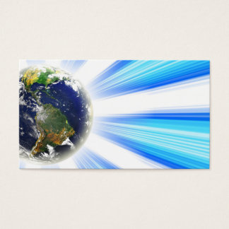 Planet Earth Abstract Vortex Business Card