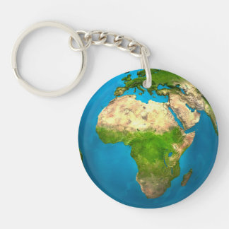 Planet Earth - Africa - Colorful Globe. 3d Render Keychain