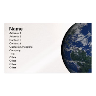 PLANET EARTH AFRICA CONTINENTS BLUE OCEAN GREEN Double-Sided STANDARD BUSINESS CARDS (Pack OF 100)