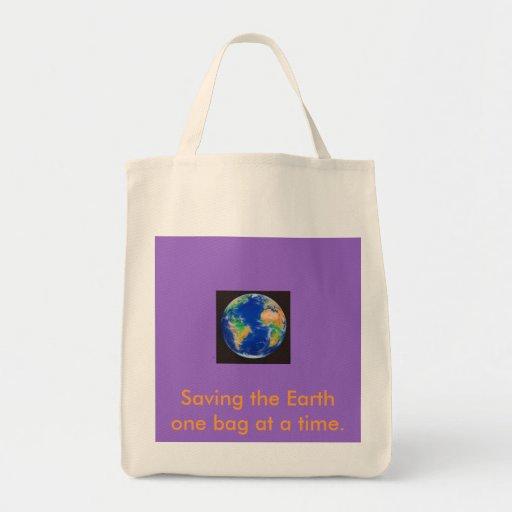 Planet_Earth, ahorrando la tierra un bolso a la ve Bolsa De Mano
