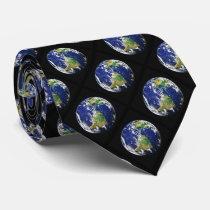 Planet Earth Americas Neck Tie