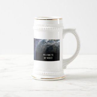 Planet Earth and Outer Space Fantasy Art Beer Stein