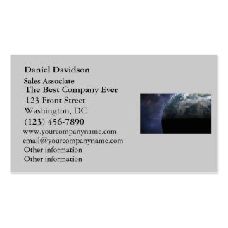 Planet Earth and Outer Space Fantasy Art Business Card Templates