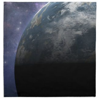 Planet Earth and Outer Space Fantasy Art Cloth Napkin