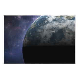 Planet Earth and Outer Space Fantasy Art Photo Art