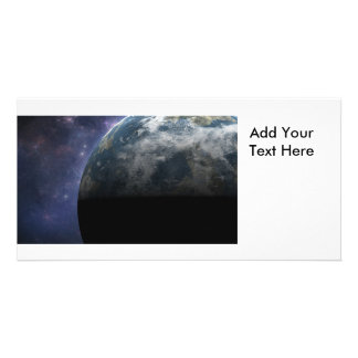 Planet Earth and Outer Space Fantasy Art Picture Card