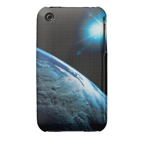 Planet Earth and Star from Space iPhone 3 Case