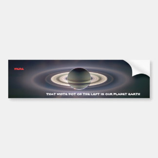 Planet Earth as Seen from Saturn Car Bumper Sticker