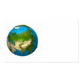 Planet Earth - Asia - colorful globe. 3d Render Business Card