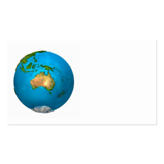 Planet Earth - Australia - Colorful Globe. 3d Business Card Templates