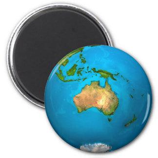 Planet Earth - Australia - Colorful Globe. 3d Magnet