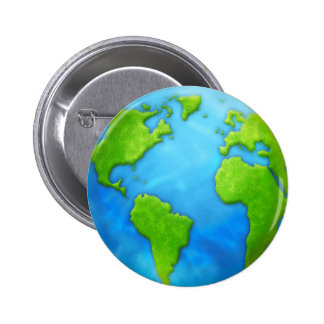 Planet Earth Badge Button