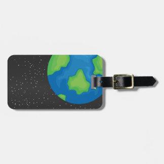Planet earth bag tag