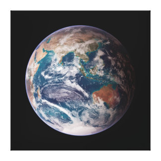 Planet Earth Blue Marble Canvas Print