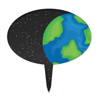 Planet earth cake topper