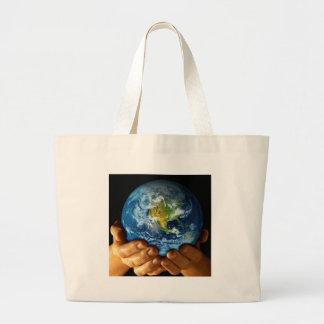 Planet  earth canvas bag