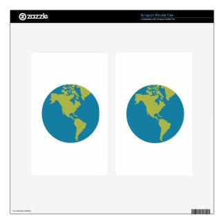 Planet Earth Cartoon Kindle Fire Skins