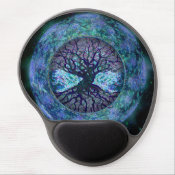 Planet Earth Circle of Life, Tree of Life Gel Mouse Pad (<em>$13.70</em>)