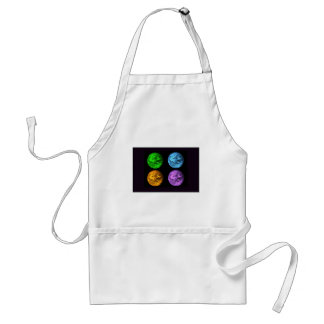 Planet Earth Collage Adult Apron