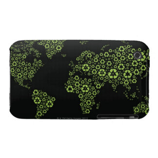 Planet earth composed of recycling symbols iPhone 3 covers