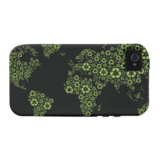 Planet earth composed of recycling symbols Case-Mate iPhone 4 cases