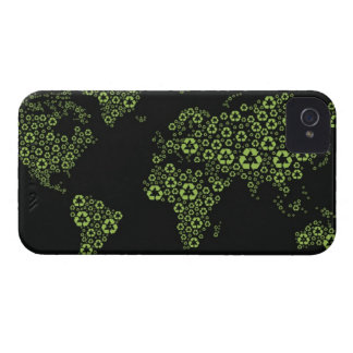 Planet earth composed of recycling symbols iPhone 4 cover