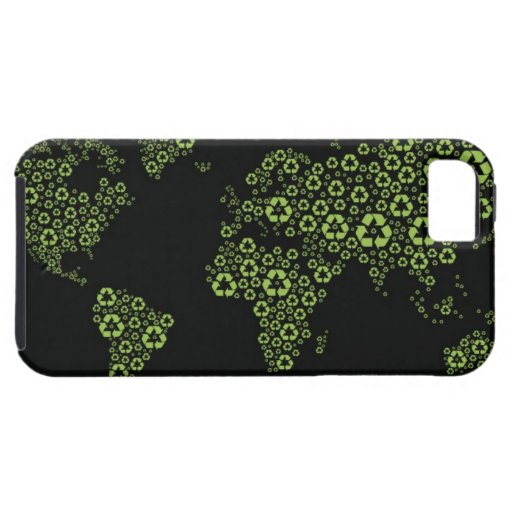 Planet earth composed of recycling symbols iPhone 5 cases