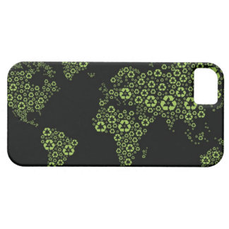 Planet earth composed of recycling symbols iPhone SE/5/5s case