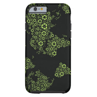 Planet earth composed of recycling symbols tough iPhone 6 case