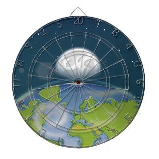Planet Earth Dart Board