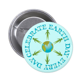 Planet Earth Day T-shirt Gift Button
