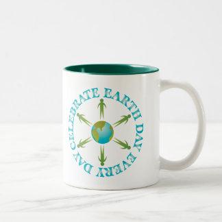 Planet Earth Day T-shirt Gift Two-Tone Coffee Mug