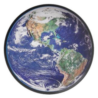 Planet Earth Dinner Plate