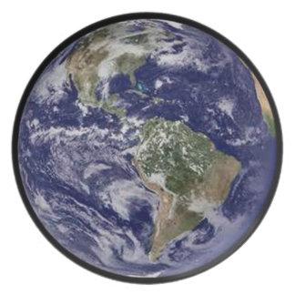 Planet Earth Dinner Plate. Plates