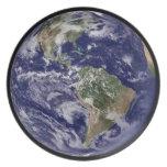 Planet Earth Dinner Plate. Melamine Plate