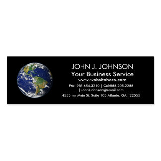 Planet Earth Double-Sided Mini Business Cards (Pack Of 20)