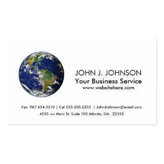 Planet Earth Double-Sided Standard Business Cards (Pack Of 100)