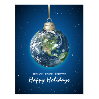 Planet Earth Eco Holidays Christmas postcard