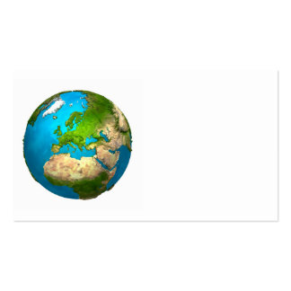 Planet Earth - Europe - Colorful Globe. 3d Render Business Card