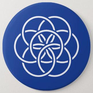 Planet Earth Flag - Button