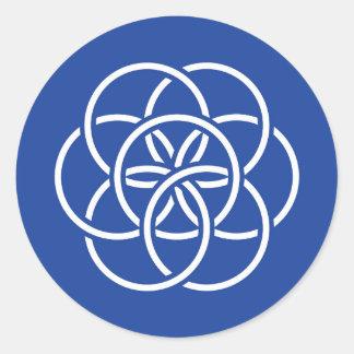 Planet Earth Flag - Circle Sticker