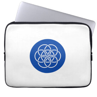 Planet earth flag laptop sleeve