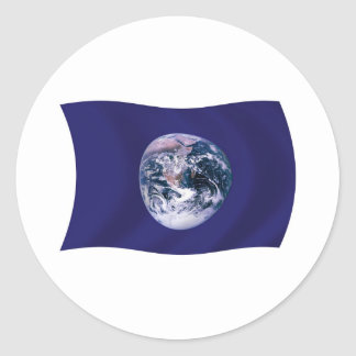 Planet Earth Flag Sticker