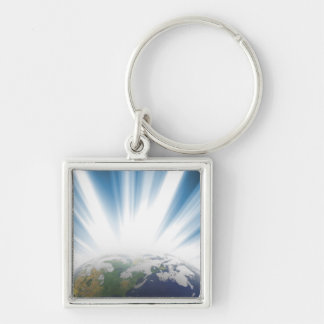 Planet Earth from Space Key Chain
