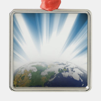 Planet Earth from Space Christmas Ornament