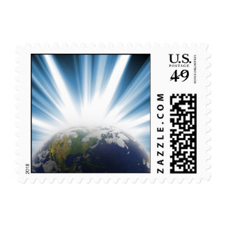 Planet Earth from Space Postage