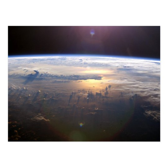 Planet Earth From Space Postcard